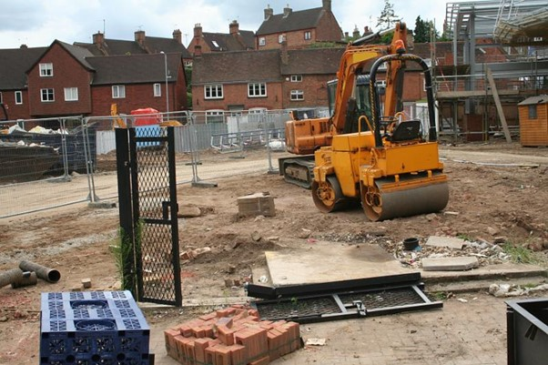 A picture of a building site
